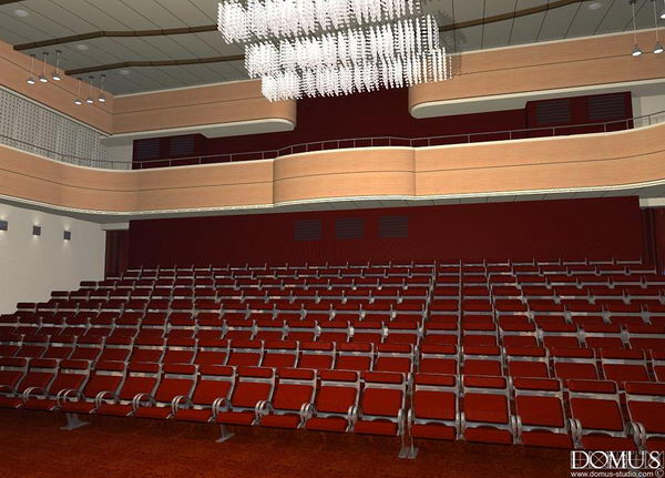 Interior design of auditorium view from the stage
