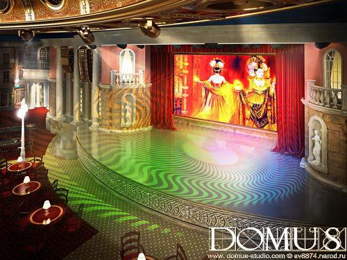 Theatrical scene in casino