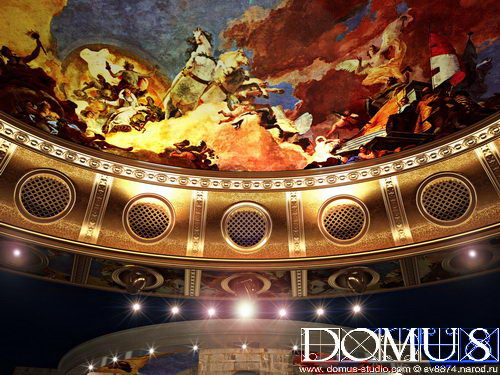 The dome with paintings in casino