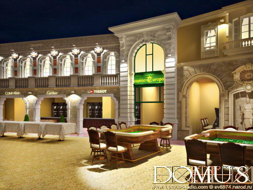 View of decorative facades